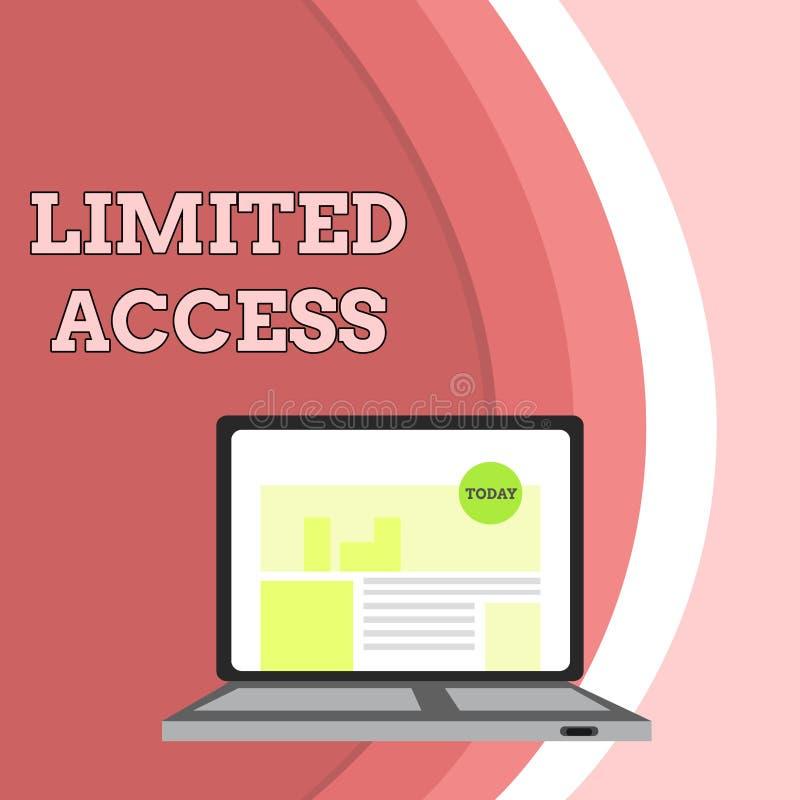 ?criture conceptuelle de main montrant Access limit? Photo d'affaires présentant ayant accès limité tout à fait à un petit illustration de vecteur