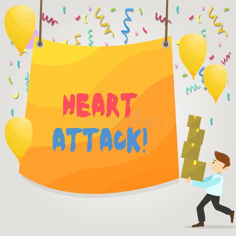 ?criture conceptuelle de main montrant la crise cardiaque E illustration libre de droits
