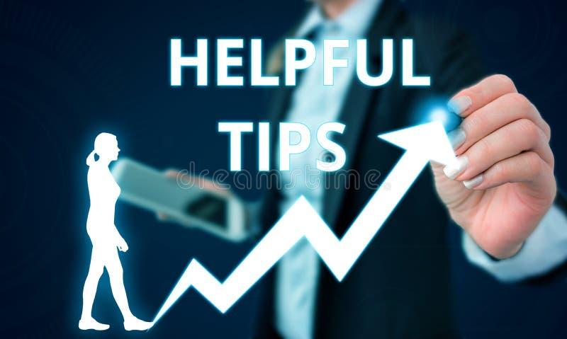 ?criture conceptuelle de main montrant les astuces utiles Conseils des textes de photo d'affaires donnés pour être la connaissanc photos stock