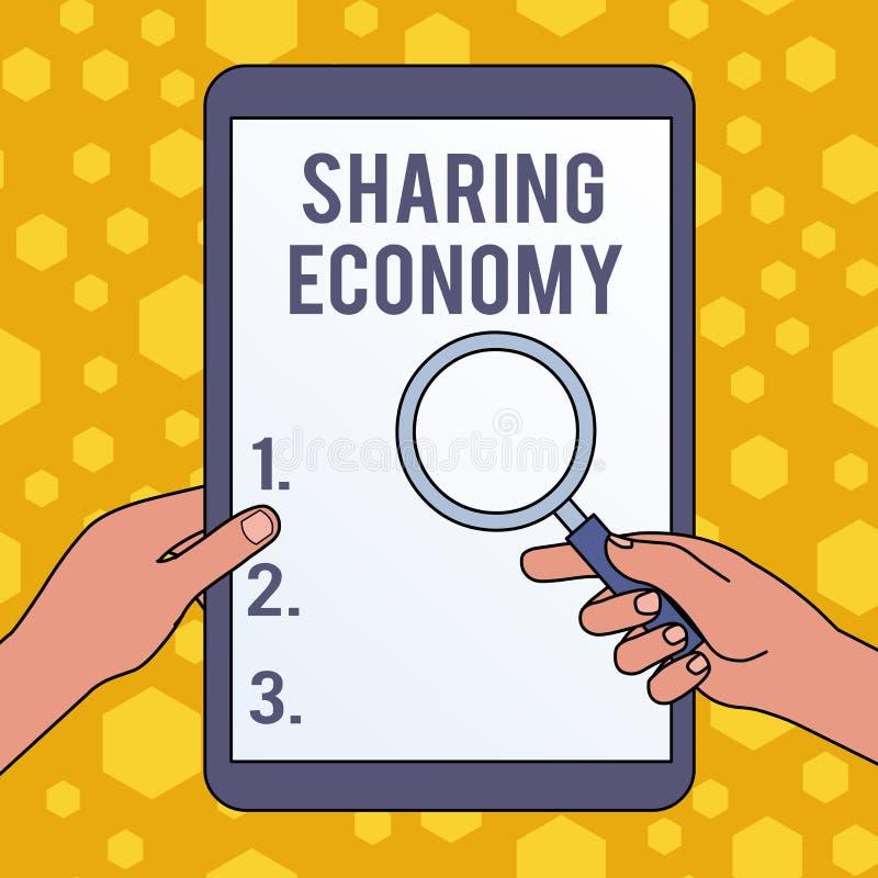 ?criture des textes d'?criture partageant l'?conomie Modèle économique de signification de concept basé sur permettre d'accéder a illustration libre de droits
