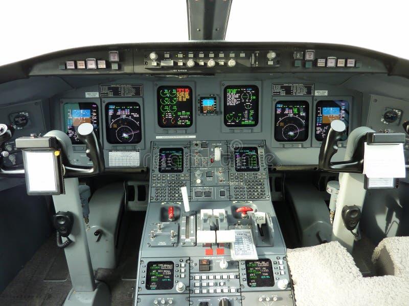 CRJ 900 Cockpit lizenzfreies stockfoto