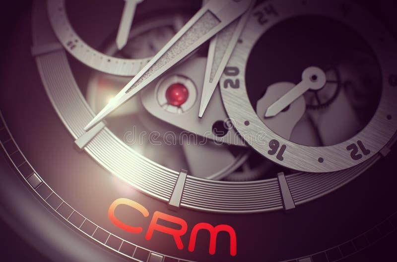 CRM στον κομψό μηχανισμό Wristwatch τρισδιάστατος απεικόνιση αποθεμάτων