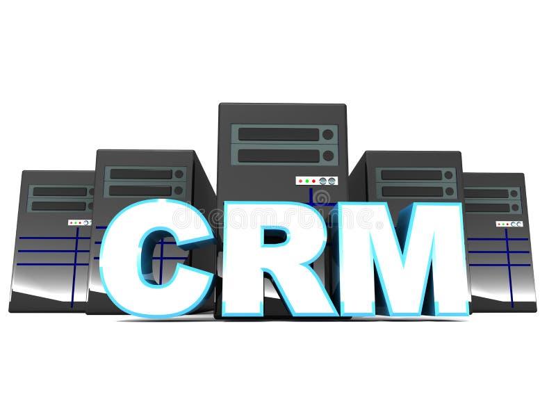 Crm или управление отношени с клиентами отношений с клиентами иллюстрация вектора