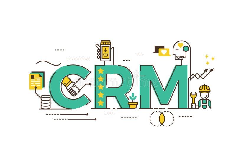 CRM: Управление отношения клиента иллюстрация вектора