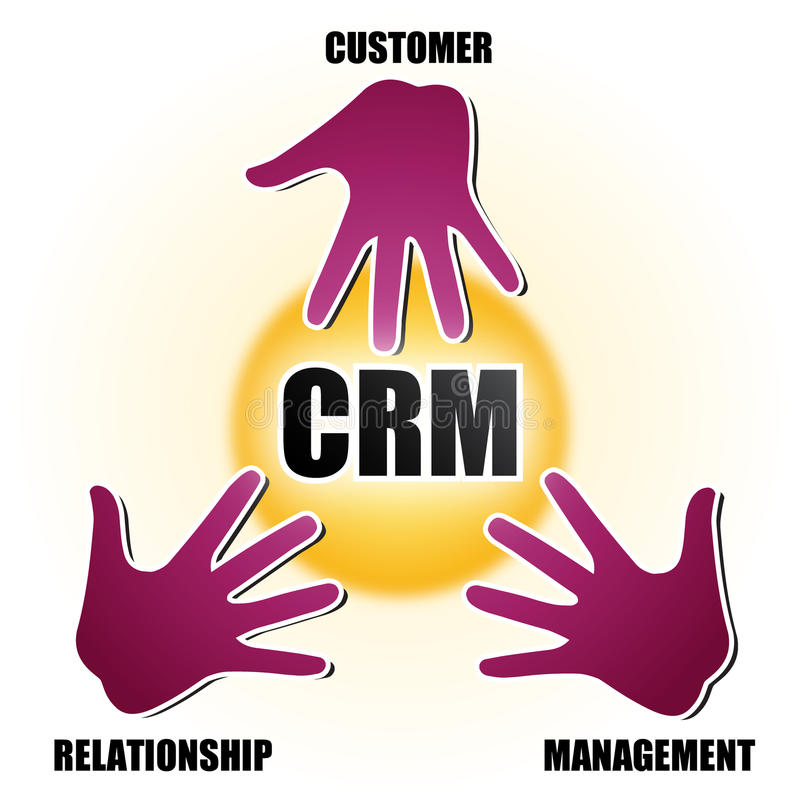 CRM royalty free illustration