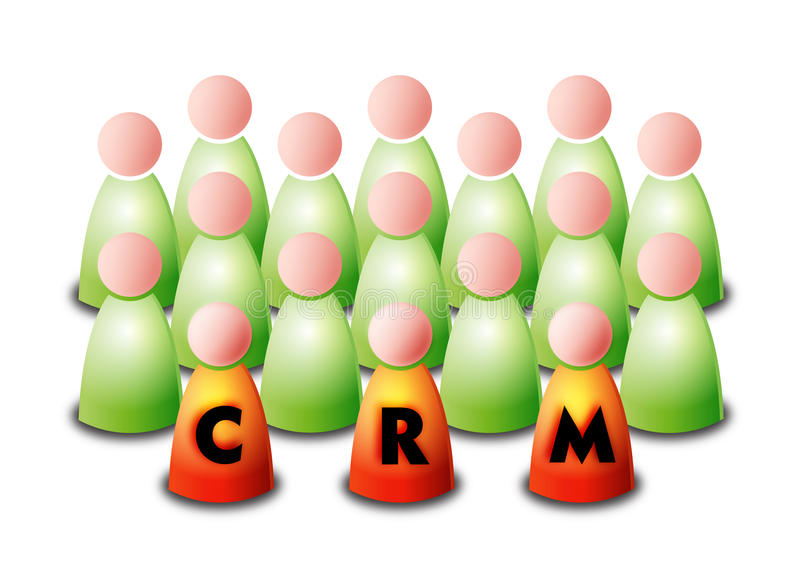 Download CRM stock vector. Image of definition, fusion, customer - 18299558