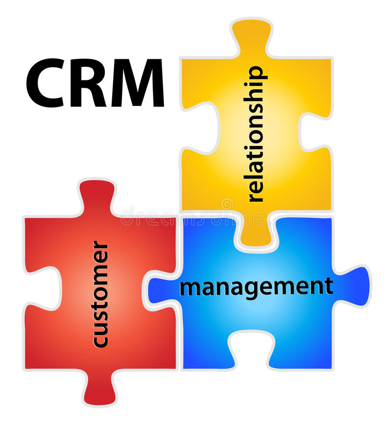 CRM illustration libre de droits