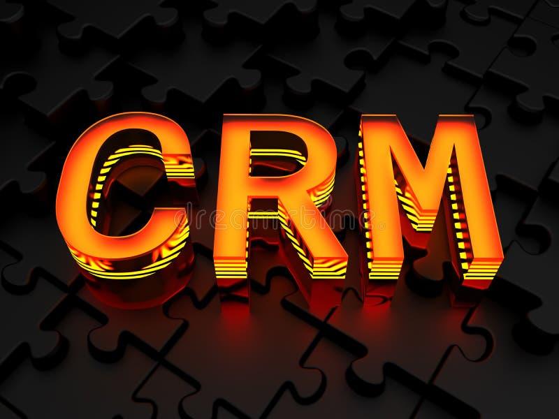 CRM - Abnehmer-Verhältnis-Management lizenzfreie stockfotografie