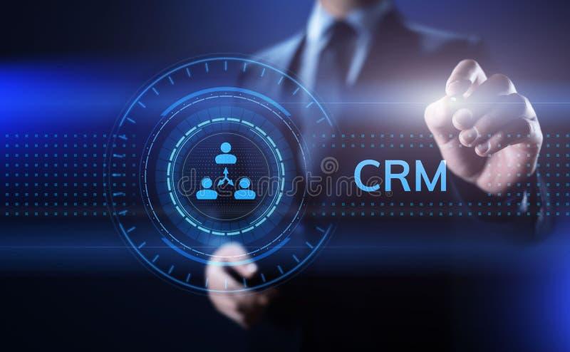 CRM - Abnehmer-Verh?ltnis-Management Unternehmenskommunikations- und -planungs-Software-Konzept lizenzfreie abbildung