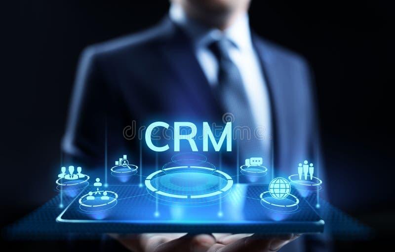 CRM - Abnehmer-Verh?ltnis-Management Unternehmenskommunikations- und -planungs-Software-Konzept vektor abbildung