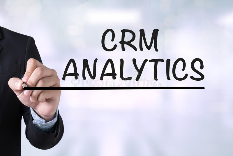 CRM ANALYTICS royalty free stock images