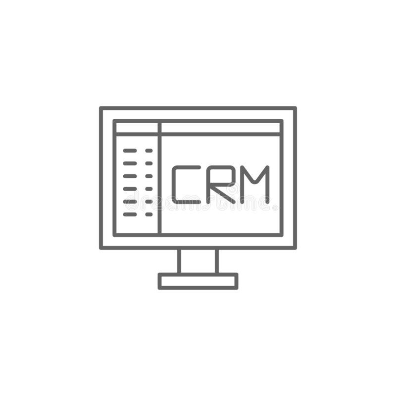 CRM, Business, Work Icon Element des Teamwork-Icons Thin-line-Symbol für Website-Design und -Entwicklung, App-Entwicklung Prämie lizenzfreie abbildung