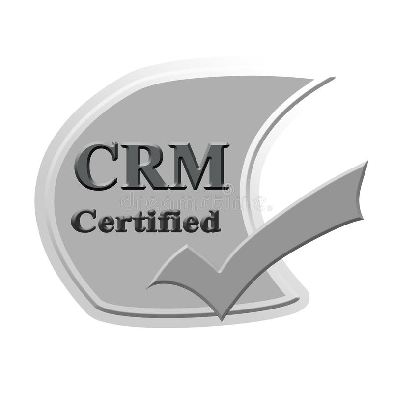 Crm Certified Icon Or Symbol Image Concept Design For Business