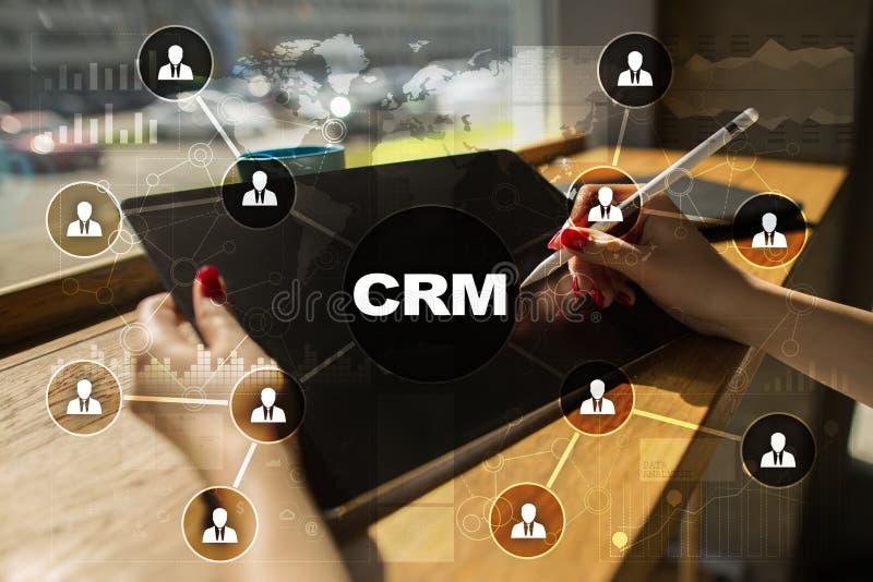 CRM Concepto de la gestión de la relación del cliente Servicio de atención al cliente y relación fotografía de archivo libre de regalías