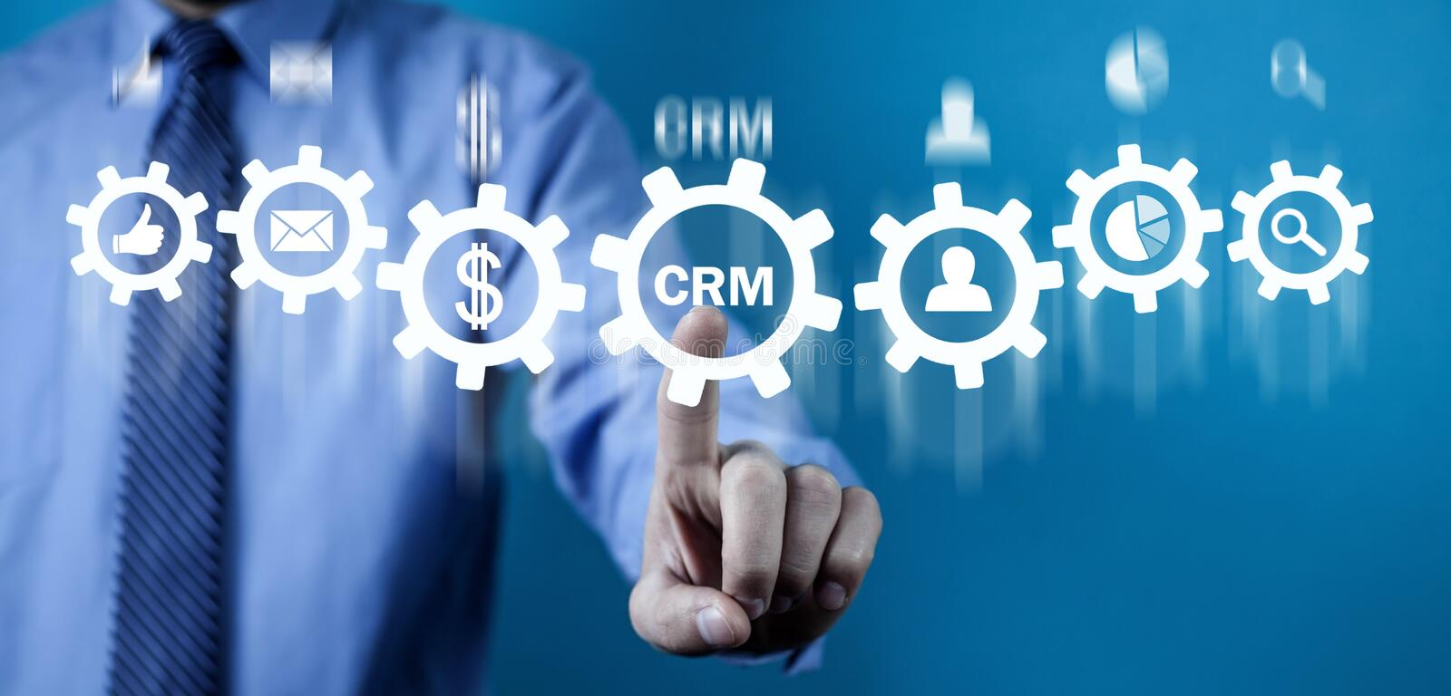 CRM. Customer Relationship Management. Business concept stock photo