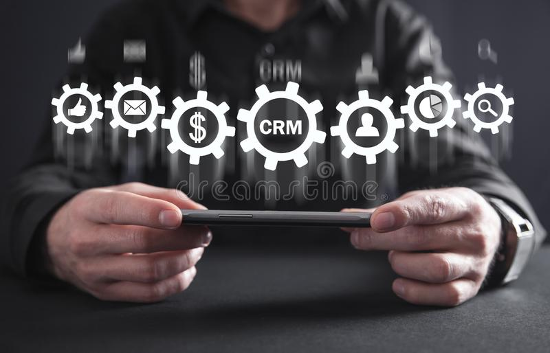 CRM. Customer Relationship Management. Business concept stock photography