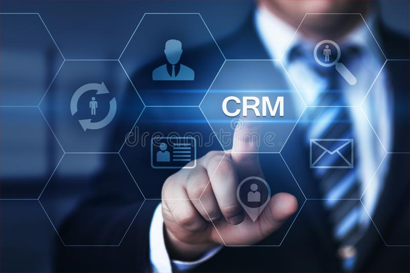 CRM Customer Relationship Management Business Internet Techology Concept.  royalty free stock photography