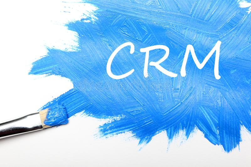 CRM. Customer relationship management concept stock images