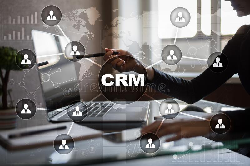 CRM. Customer relationship management concept. Customer service and relationship.  stock photography