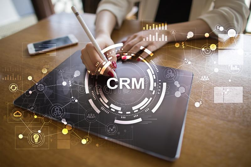 CRM. Customer relationship management concept. Customer service and relationship. CRM. Customer relationship management concept. Customer service and royalty free stock photos