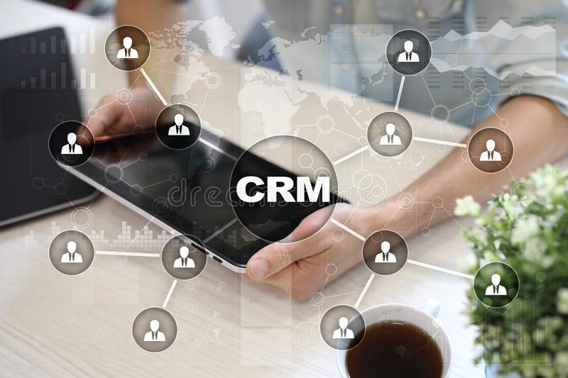 CRM. Customer relationship management concept. Customer service and relationship. stock photos