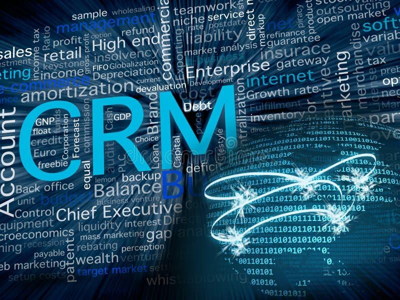 CRM et réseau illustration libre de droits