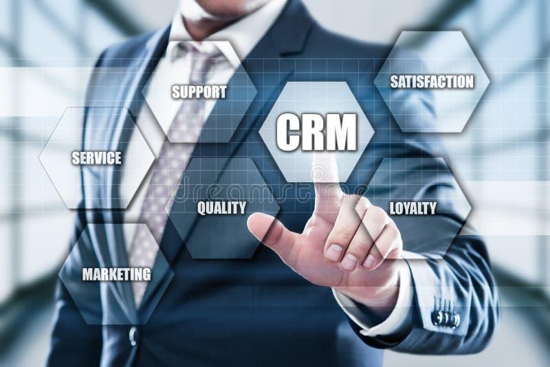 CRM-het Commerciële van het Klantrelatiebeheer Concept van Internet Techology royalty-vrije stock afbeelding