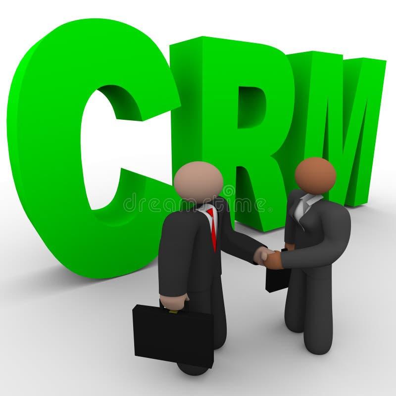 CRM - Hombres de negocios del apretón de manos libre illustration