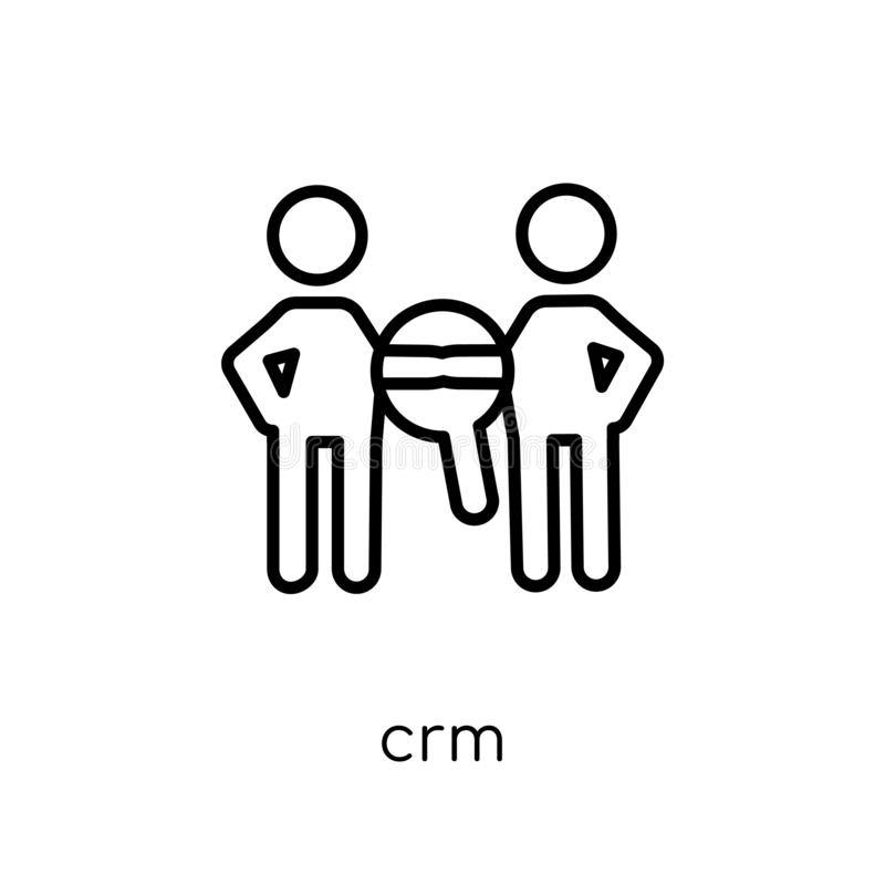 CRM icon from Marketing collection. vector illustration