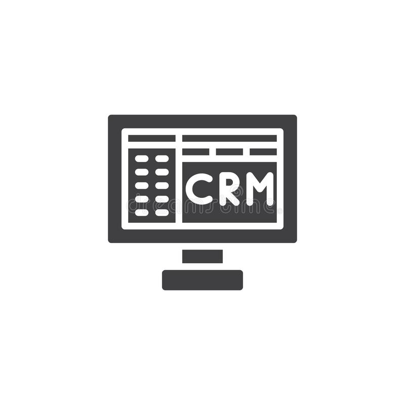 Crm Icon Vector Stock Vector Illustration Of Pixel 100841961