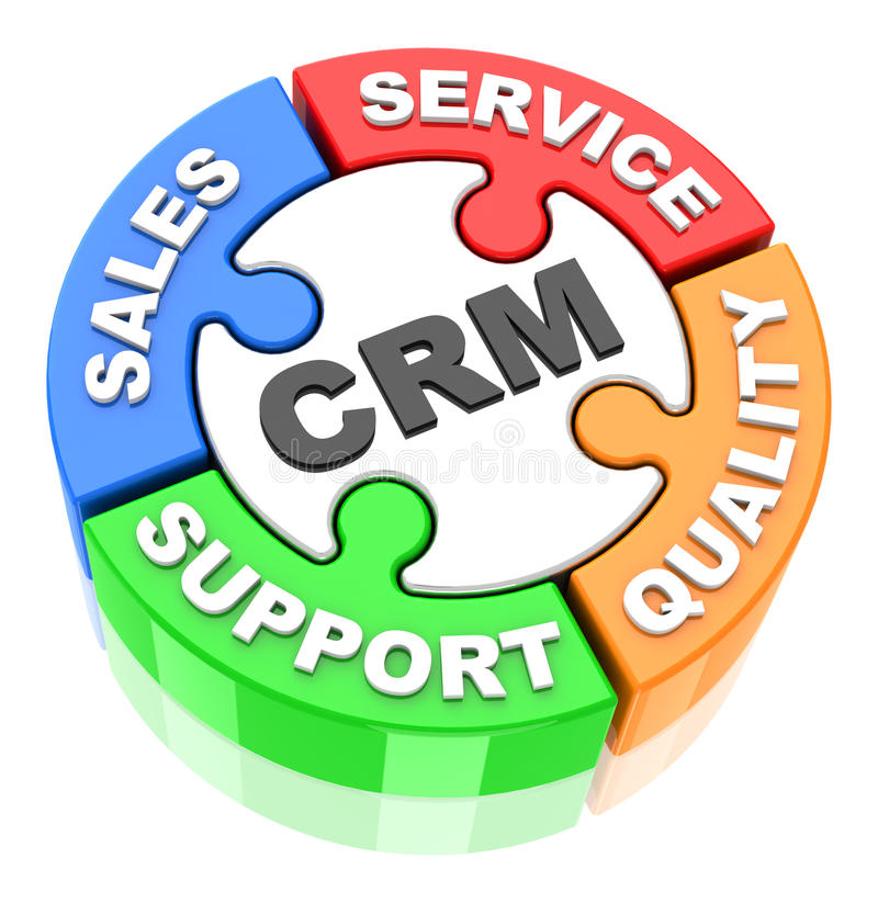 Crm-Konzept stock abbildung
