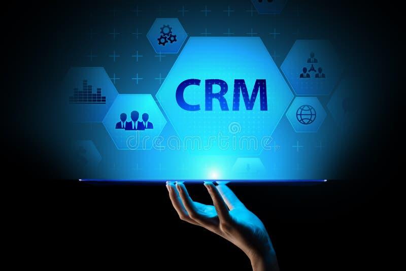 CRM - Logiciel système d'automation de gestion de relations de client Concept d'affaires et de technologie illustration libre de droits