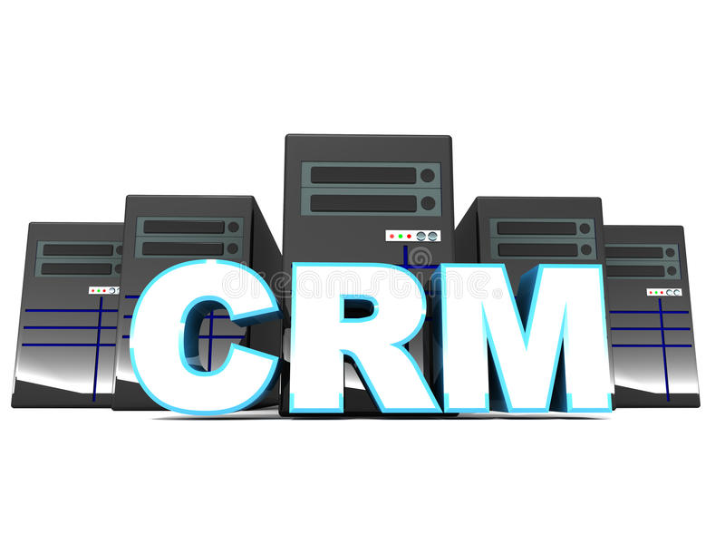 Crm lub klienta powiązania zarządzanie ilustracja wektor