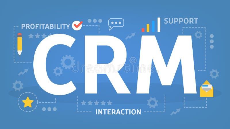CRM o concepto de la gestión de la relación del cliente cliente libre illustration