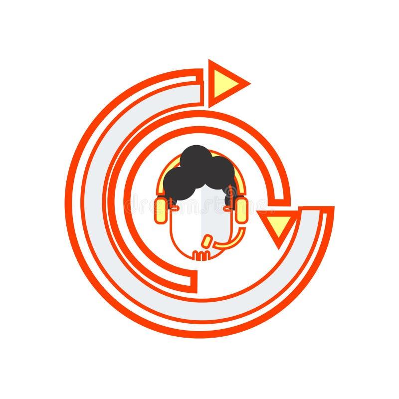 CRM-pictogram vectordieteken en symbool op witte achtergrond, CRM-embleemconcept wordt geïsoleerd stock illustratie