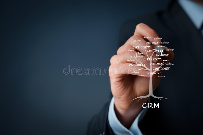 CRM und Kunden lizenzfreies stockbild