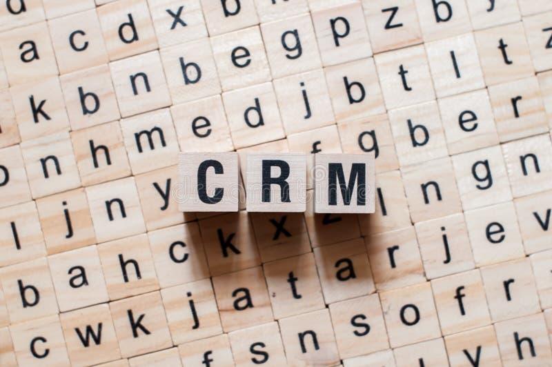 Crm word concept stock photos