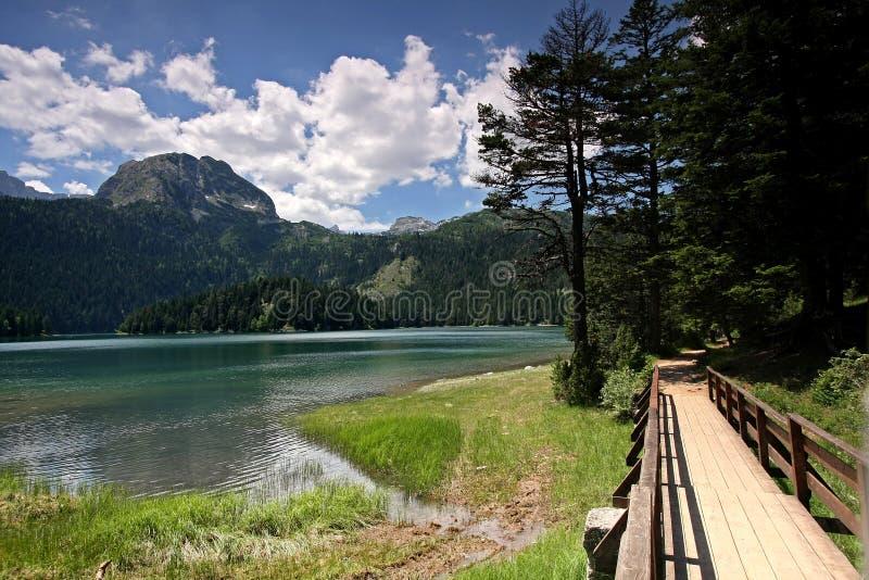 Crno Jezero (lago preto), montanhas de Durmitor imagem de stock royalty free