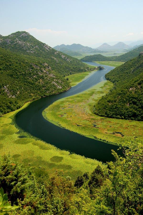 crnojevica montenegro河 库存图片