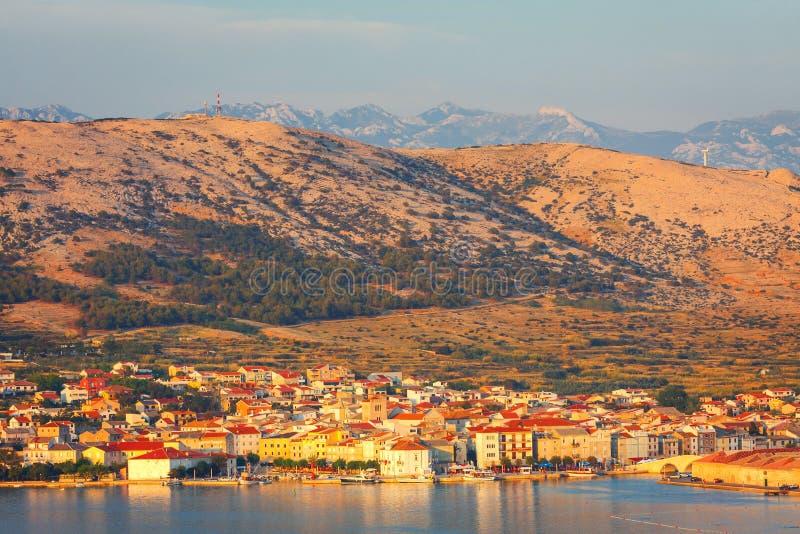Croácia, ilha do Pag imagem de stock