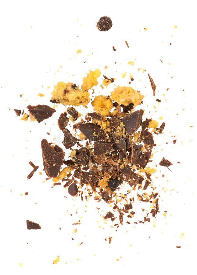 Croûtes et chocolat de biscuit images libres de droits