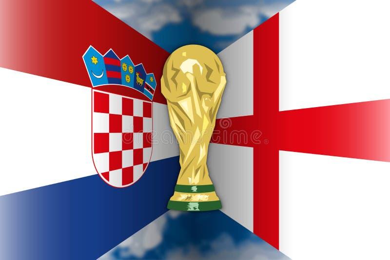 Croacia CONTRA Inglaterra, Rusia 2018, semi finales ilustración del vector
