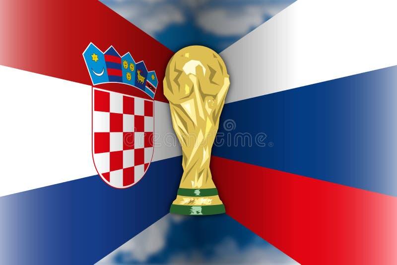 Croacia CONTRA Rusia, Rusia 2018, finales cuartos libre illustration