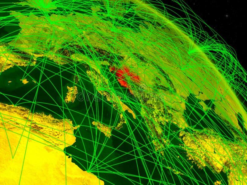 Croacia en el globo digital ilustración del vector
