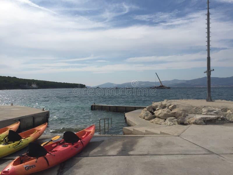 Croacia Kayaking imágenes de archivo libres de regalías