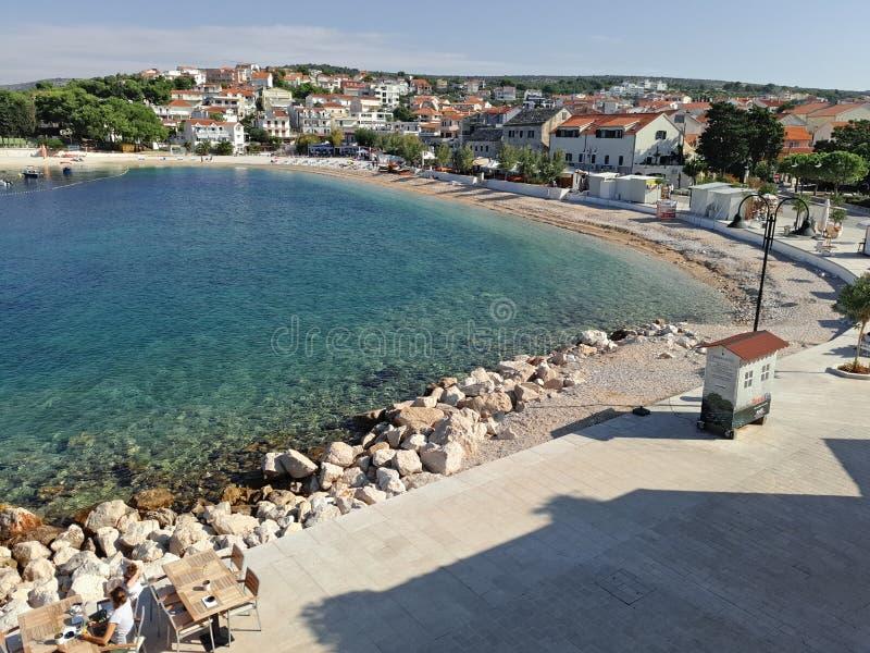 Croacia, uno pequeño y cada ciudad vieja fotos de archivo