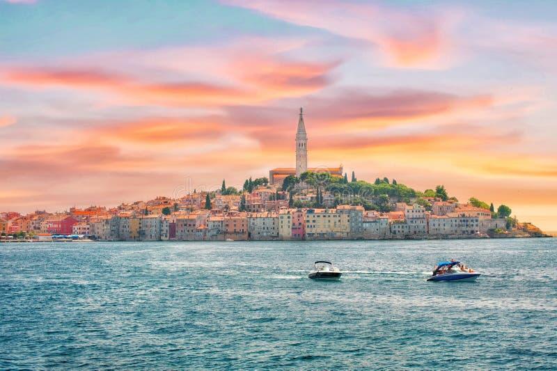 Croacia Vista de Rovinj imagen de archivo libre de regalías