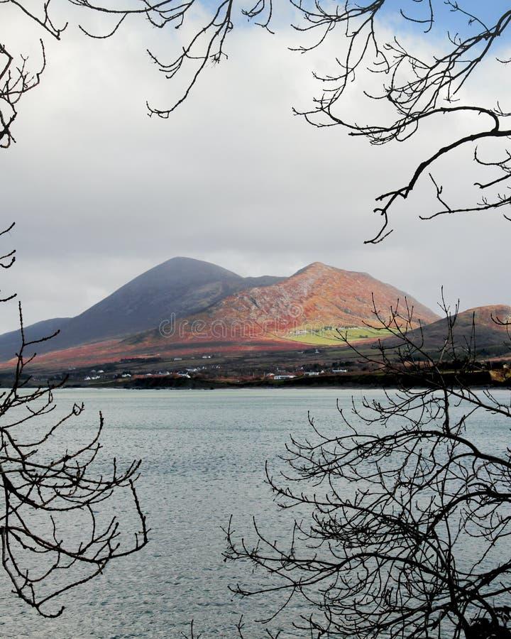 Croagh Patrick in primavera 2019 fotografia stock