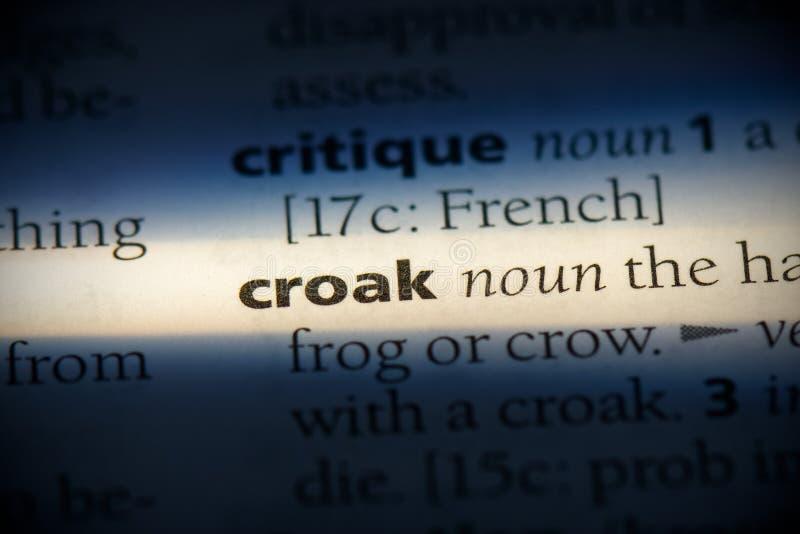 Croak immagini stock