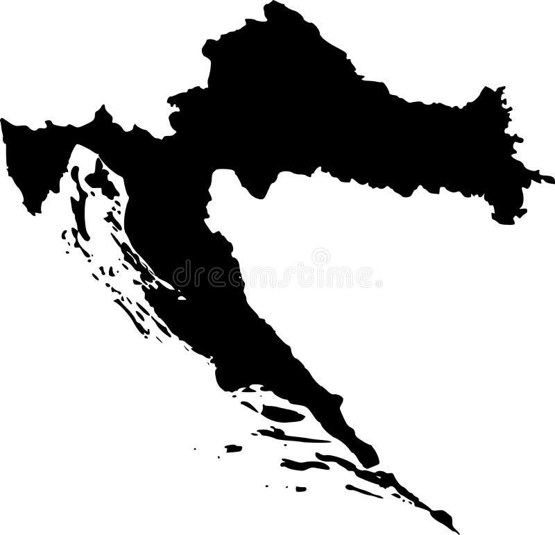 croatia översiktsvektor stock illustrationer
